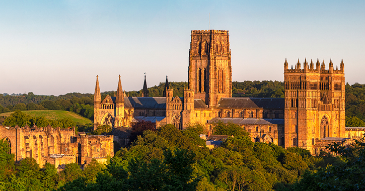 Durham Cathedral during sunset