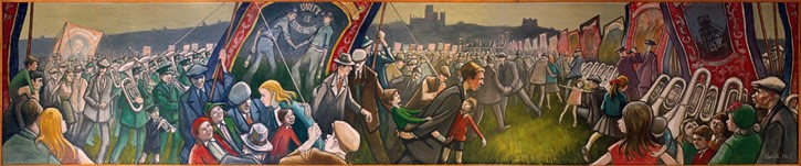 Full view of Norman Cornish Miners' Gala mural