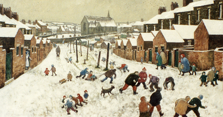 Spennymoor Snow Scene Mount Pleasant by Norman Cornish