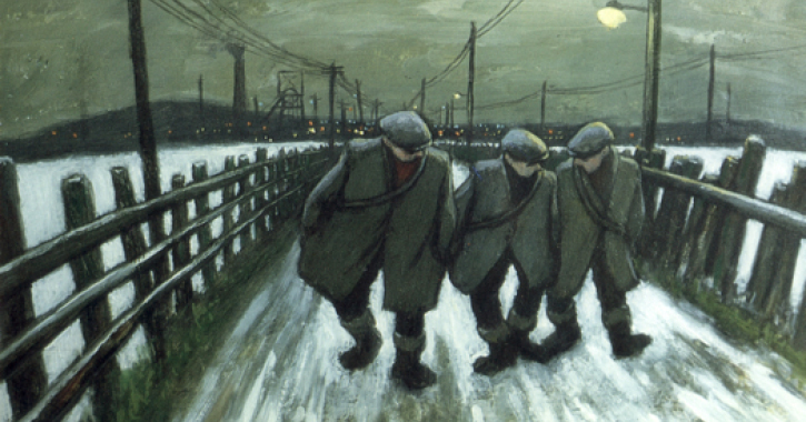 The Pit Road by Norman Cornish