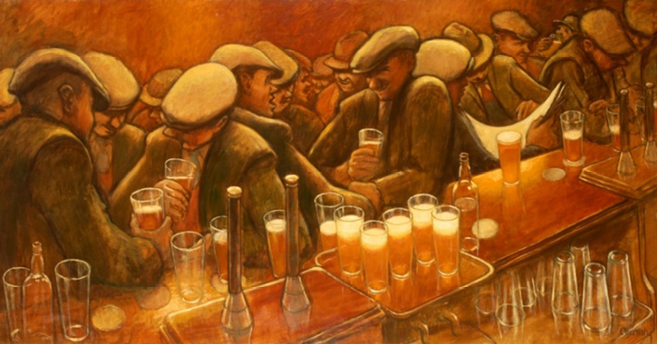 The Busy Bar by Norman Cornish