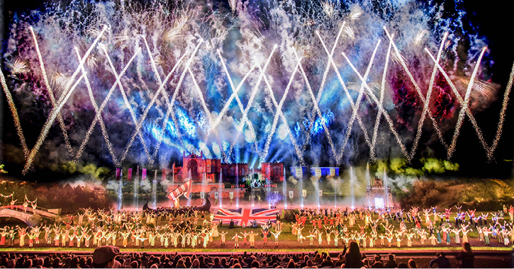The Grand Finale of Kynren an epic tale of england