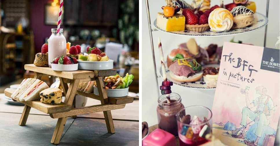 Vegan Afternoon Tea and the South Causey Inn and BFG Afternoon Tea at The Bowes Museum