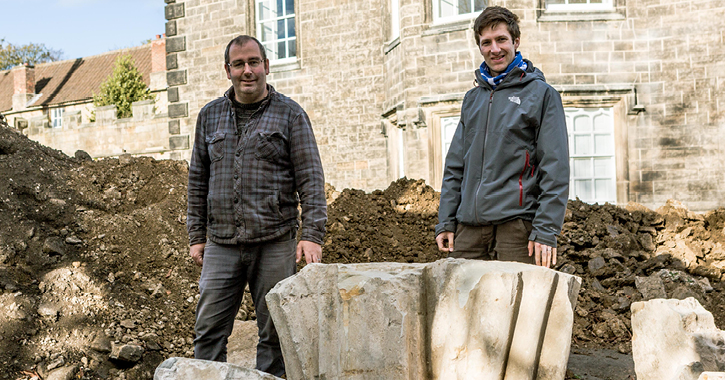 Jamie Armstrong, Senior Archaeologist, Durham University Department of Archaeology and John Castling, Archaeology and Social History Curator at The Auckland Project
