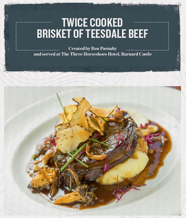 Twice Cooked Brisket of Teesdale Beef