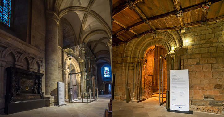 new glazed entrance doors at Durham Cathedral