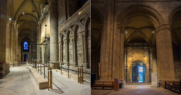 Durham Cathedral new glazed lobbies