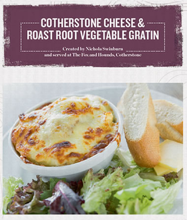 Cotherstone Cheese and Roast Root Vegetable Gratin