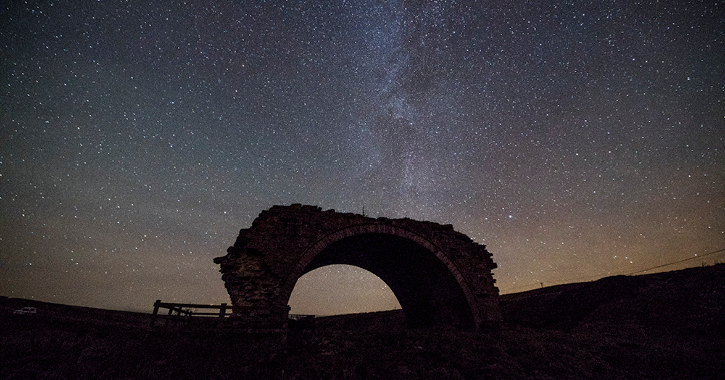Rookhope Arch in the Durham Dales at night