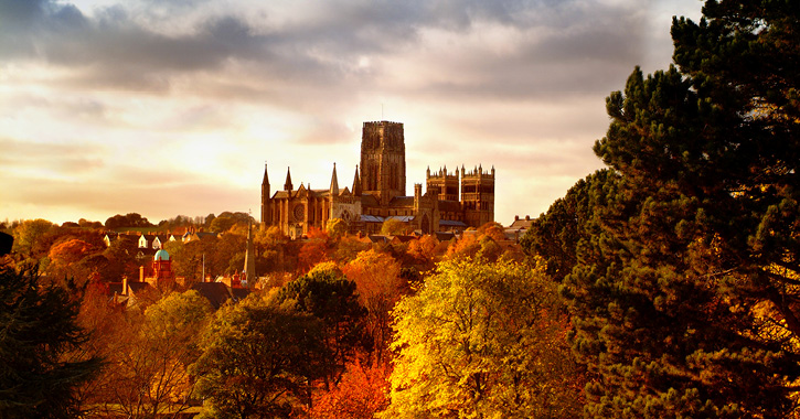 Durham Cathedral during the autumn season