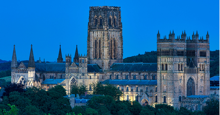Durham Cathedral at night time