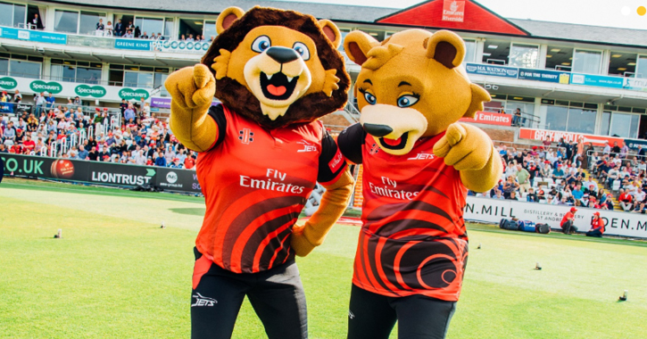 Chester & River the Durham Cricket Mascots