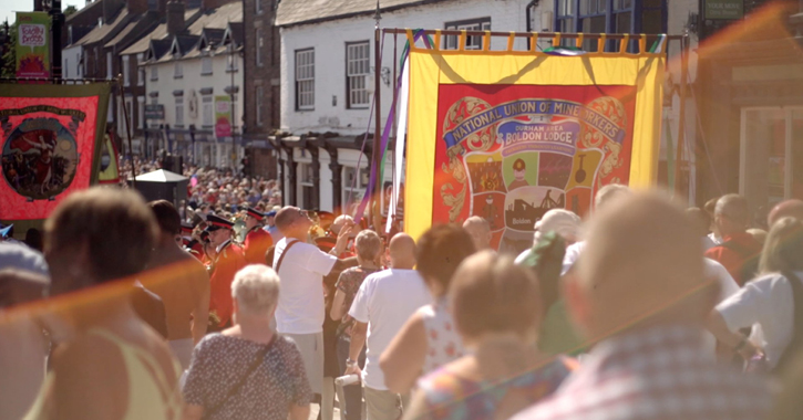 The Durham Miners Gala in Durham City