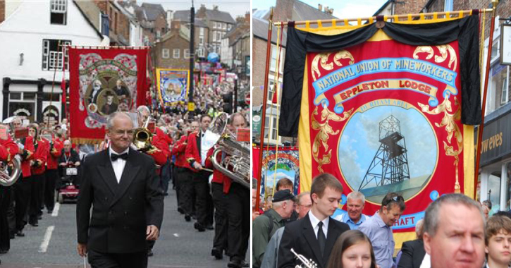 The Durham Miners' Gala in Durham City every July