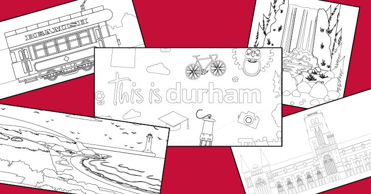 This is Durham colouring pages