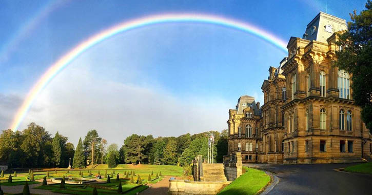 Rainbow over The Bowes Museum