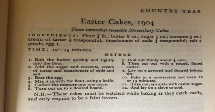 Raby Castle's historic Easter recipe cookbook