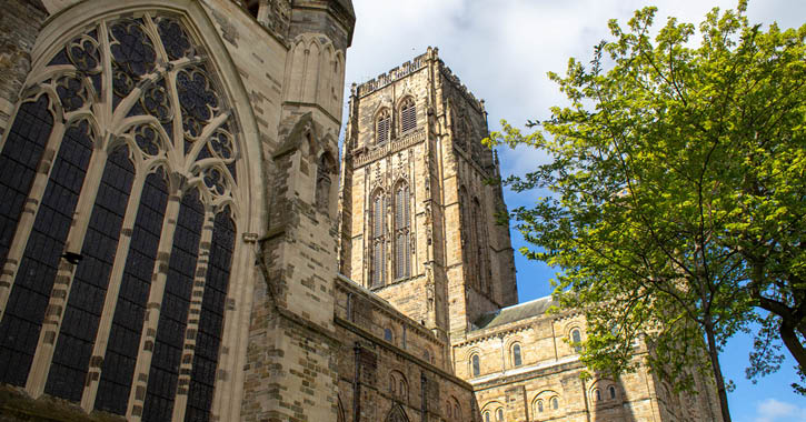 Durham Cathedral exterior in sunshine