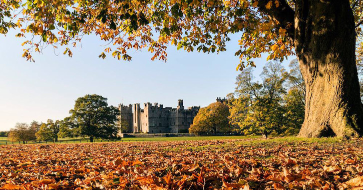 Autumn view of Raby Castle