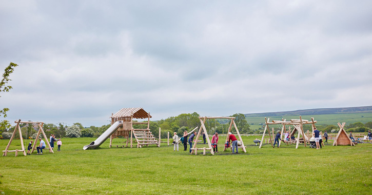 Derwent Waterside Park Play Park in the Durham Dales