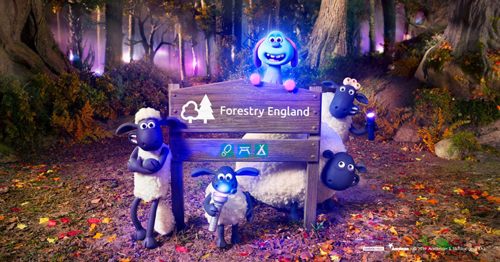 Shaun the Sheep: Farmageddon Glow Trail at Hamsterley Forest