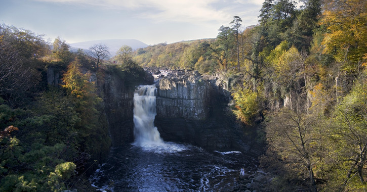 High Force Waterfall in the Durham Dales and North Pennines AONB