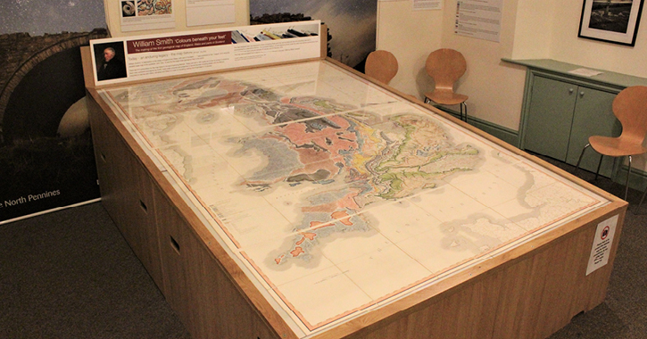William Smith Map at Bowlees Visitor Centre