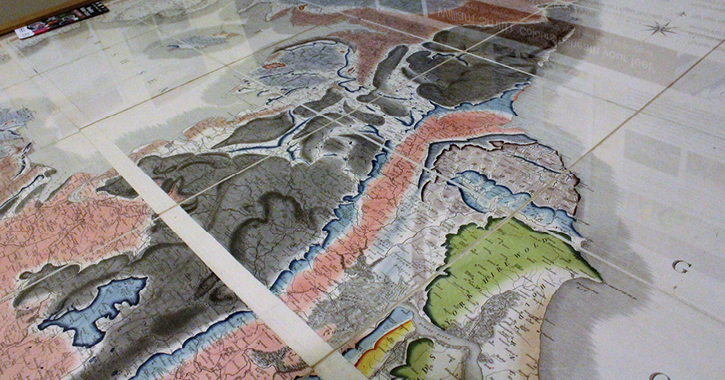 The William Smith Map at Bowlees Visitor Centre
