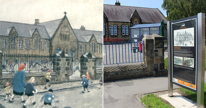 Rose Street School on the Norman Cornish Art Trail in Spennymoor, County Durham