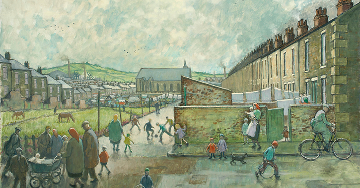 A painting by Norman Cornish of Spennymoor
