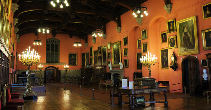 The Baron's Hall inside Raby Castle