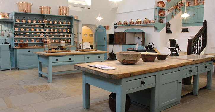 Raby Castle's old kitchen