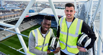 Take a rooftop tour of Newcastle United's St James' Park