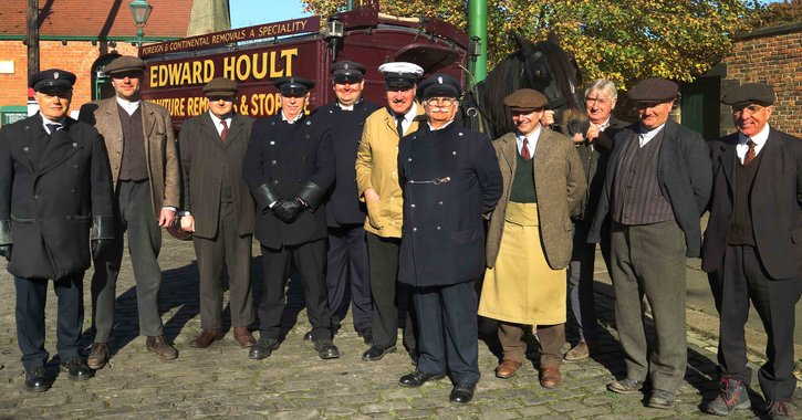 Beamish Museum staff members who were in the downton abbey movie
