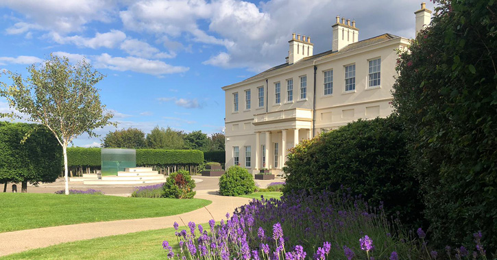Exterior of Seaham Hall on a sunny day