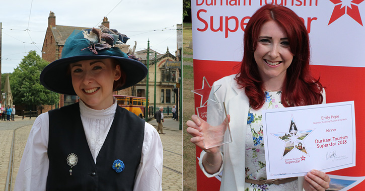 Emily Hope of Beamish Museum - Durham Tourism Superstar 2018