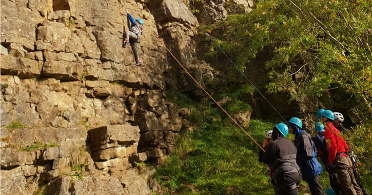 people rock climbing at Weardale Adventure Centre