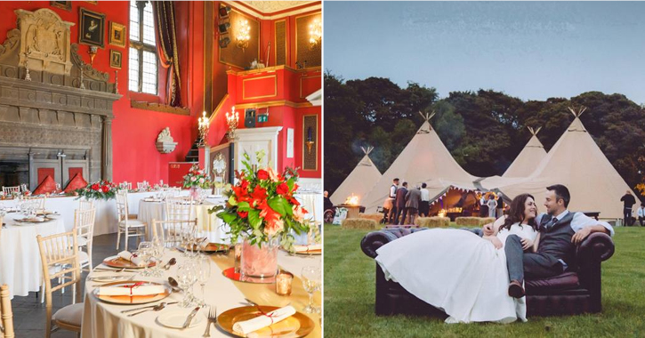 weddings at Lumley Castle Hotel and Moor House Adventure Centre