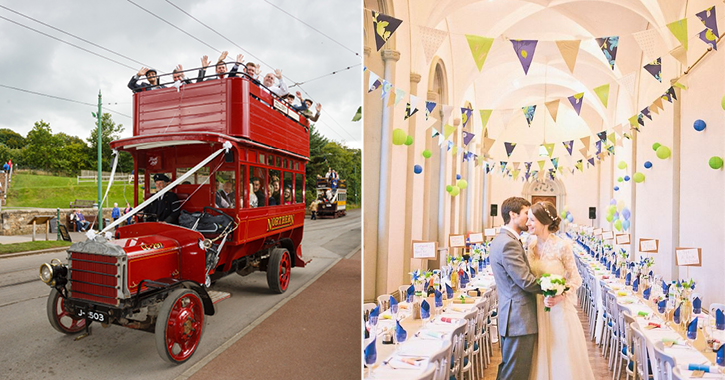 wedding at Beamish Museum and Brancepth Castle