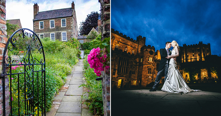 weddings at Crook Hall and Durham Castle