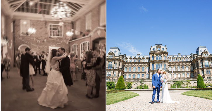 wedding at St Chad's College and The Bowes Museum