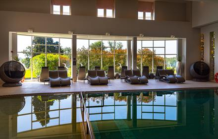 Spa Loungers, Social Distance, Rockliffe Hall