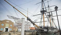 HMS Trincomalee at the National Museum of the Royal Navy in Hartlepool