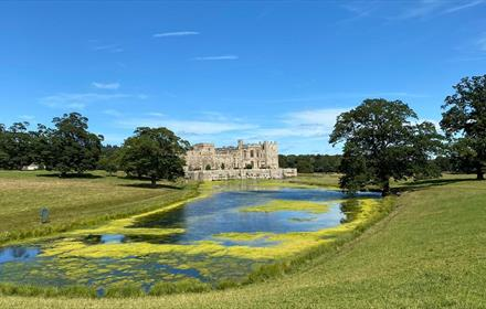 Raby Castle with lake
