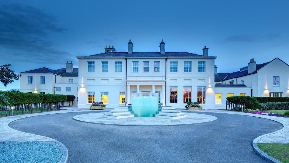 Seaham Hall and Serenity Spa exterior fountain