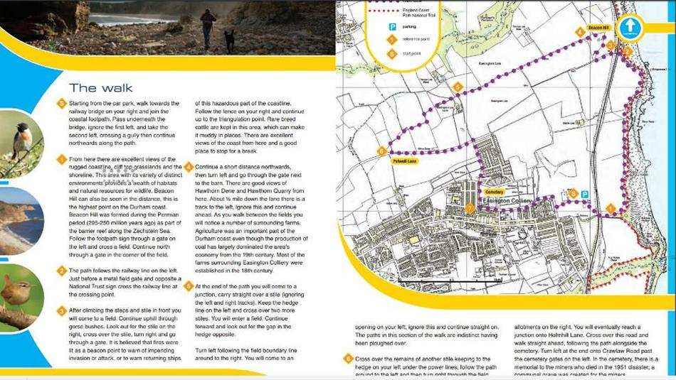 Easington Colliery Durham Heritage Coast Walk Walking Route In - Map your walking route