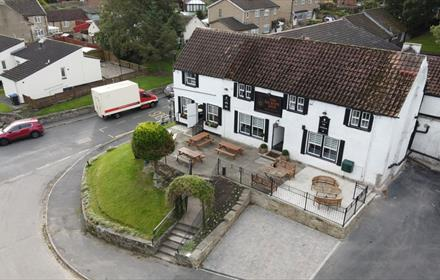 The Saxon Inn exterior image from overhead