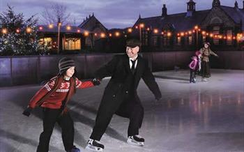 Ice skating at Beamish Museum