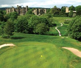 Brancepeth Castle golf course, part of the County Durham Heritage Golf Trail.