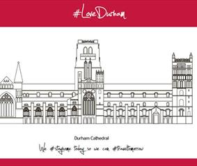 Love Durham Durham Cathedral colouring in pages